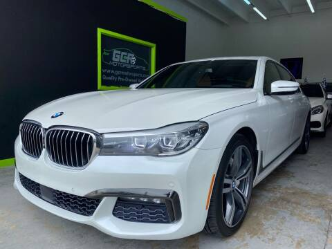 2016 BMW 7 Series for sale at GCR MOTORSPORTS in Hollywood FL