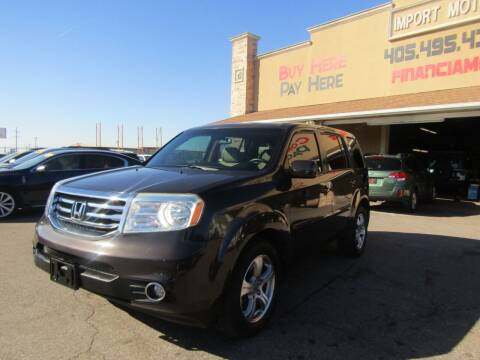 2012 Honda Pilot for sale at Import Motors in Bethany OK