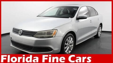 2012 Volkswagen Jetta for sale at Florida Fine Cars - West Palm Beach in West Palm Beach FL