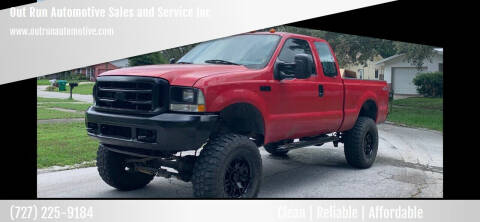2004 Ford F-250 Super Duty for sale at Out Run Automotive Sales and Service Inc in Tampa FL