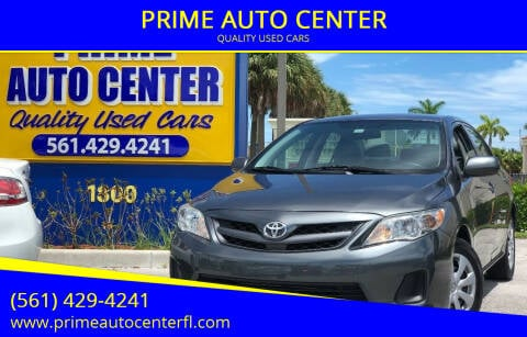 2012 Toyota Corolla for sale at PRIME AUTO CENTER in Palm Springs FL