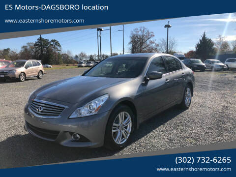 2013 Infiniti G37 Sedan for sale at ES Motors-DAGSBORO location in Dagsboro DE