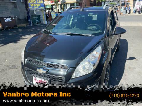 2013 Chevrolet Spark for sale at Vanbro Motors Inc in Staten Island NY