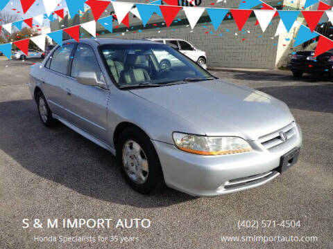 2002 Honda Accord for sale at S & M IMPORT AUTO in Omaha NE