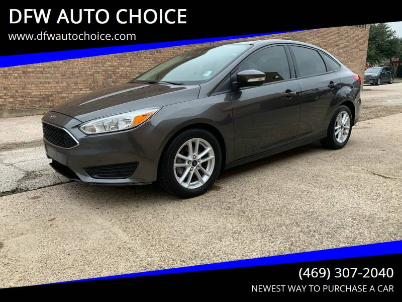 2015 Ford Focus for sale at DFW AUTO CHOICE in Dallas TX