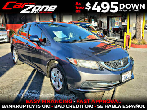2013 Honda Civic for sale at Carzone Automall in South Gate CA