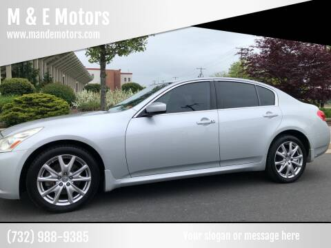 2009 Infiniti G37 Sedan for sale at M & E Motors in Neptune NJ