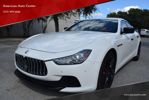2015 Maserati Ghibli for sale at American Auto Center in Austin TX