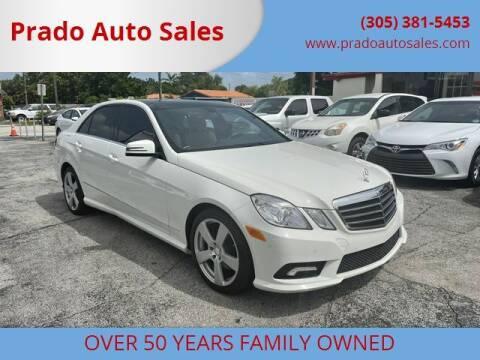2011 Mercedes-Benz E-Class for sale at Prado Auto Sales in Miami FL