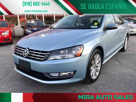 2013 Volkswagen Passat for sale at Mira Auto Sales in Raleigh NC