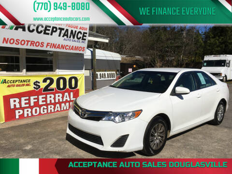 2013 Toyota Camry for sale at Acceptance Auto Sales Douglasville in Douglasville GA