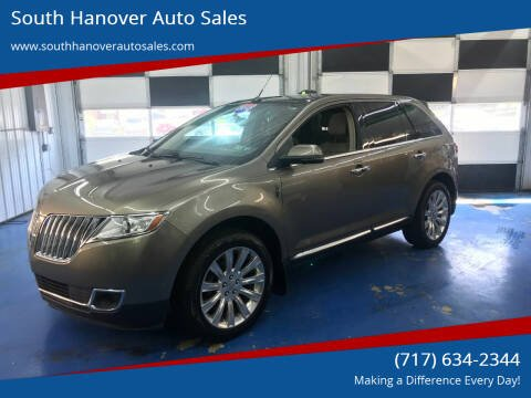 2012 Lincoln MKX for sale at South Hanover Auto Sales in Hanover PA