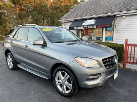 2012 Mercedes-Benz M-Class for sale at Clear Auto Sales in Dartmouth MA