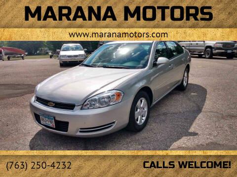 2008 Chevrolet Impala for sale at Marana Motors in Princeton MN