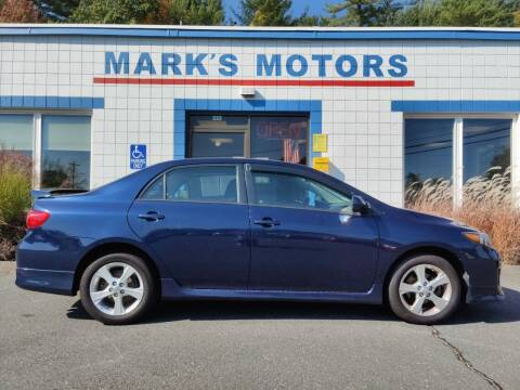 2011 Toyota Corolla for sale at Mark's Motors in Northampton MA