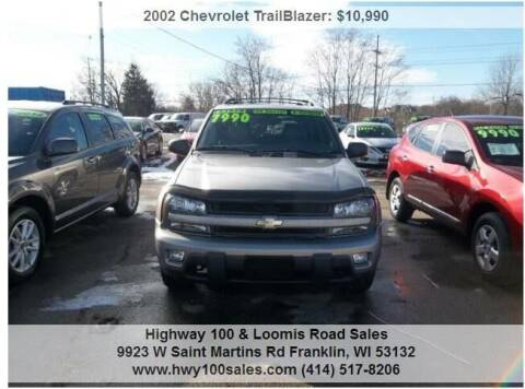 2002 Chevrolet TrailBlazer for sale at Highway 100 & Loomis Road Sales in Franklin WI