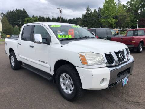 2005 Nissan Titan for sale at Freeborn Motors in Lafayette, OR