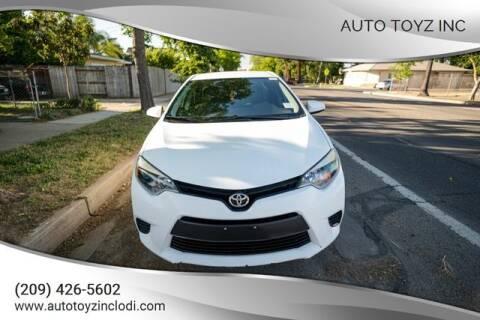 2014 Toyota Corolla for sale at Auto Toyz Inc in Lodi CA