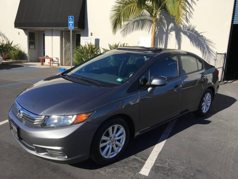 2012 Honda Civic for sale at MANGIONE MOTORS ORANGE COUNTY in Costa Mesa CA
