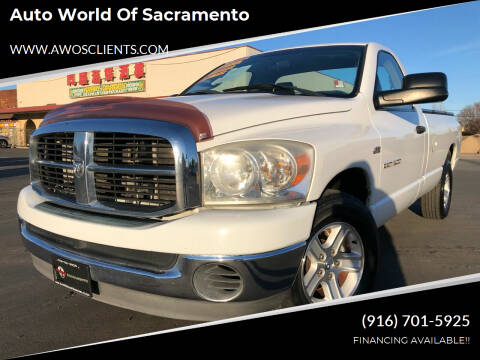2007 Dodge Ram Pickup 1500 for sale at Auto World of Sacramento Stockton Blvd in Sacramento CA