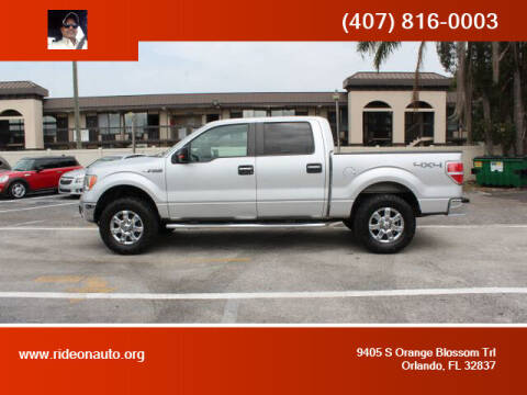 2013 Ford F-150 for sale at Ride On Auto in Orlando FL