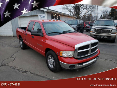 2003 Dodge Ram Pickup 3500 for sale at D & D Auto Sales Of Onsted in Onsted   Brooklyn MI