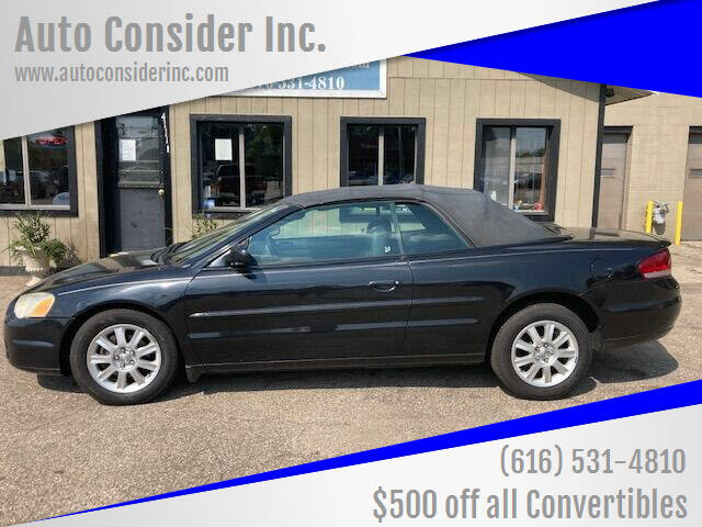 2005 Chrysler Sebring for sale at Auto Consider Inc. in Grand Rapids MI