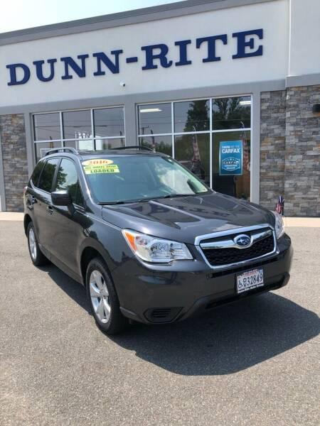 2016 Subaru Forester for sale at Dunn-Rite Auto Group in Kilmarnock VA