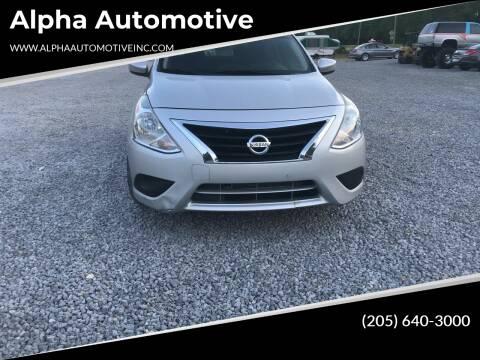 2015 Nissan Versa for sale at Alpha Automotive in Odenville AL