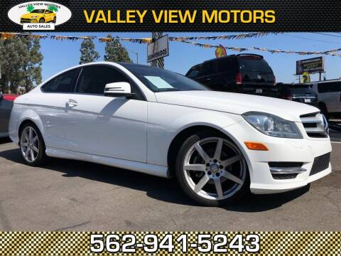 2013 Mercedes-Benz C-Class for sale at Valley View Motors in Whittier CA