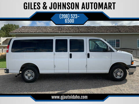 2017 Chevrolet Express Passenger for sale at GILES & JOHNSON AUTOMART in Idaho Falls ID