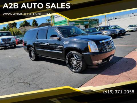 2010 Cadillac Escalade ESV for sale at A2B AUTO SALES in Chula Vista CA