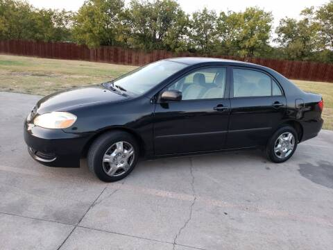 2007 Toyota Corolla for sale at El Jasho Motors in Grand Prairie TX