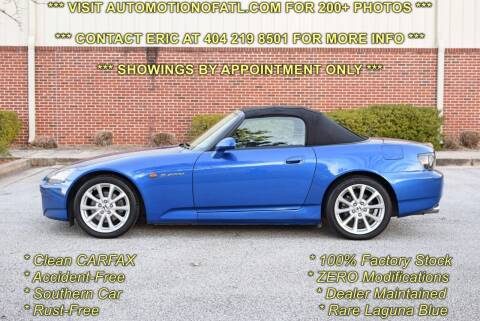 2007 Honda S2000 for sale at Automotion Of Atlanta in Conyers GA
