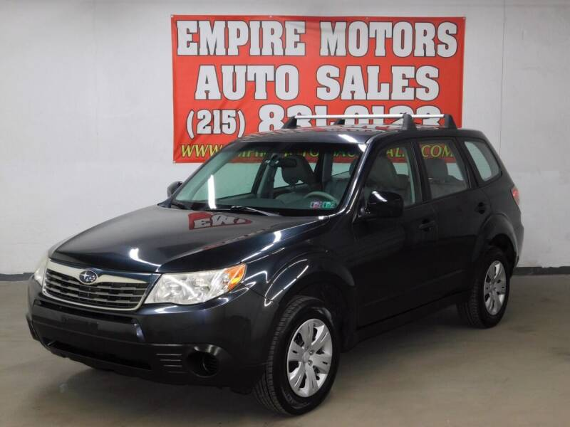 2009 Subaru Forester for sale at EMPIRE MOTORS AUTO SALES in Philadelphia PA