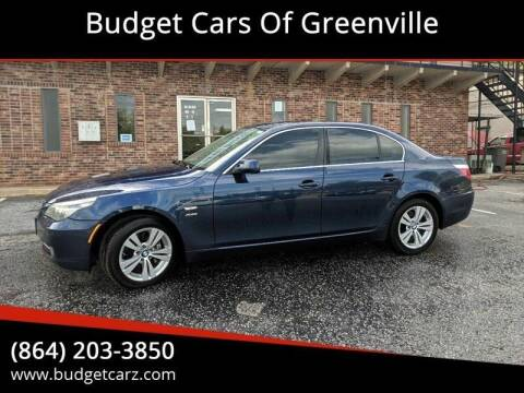 2010 BMW 5 Series for sale at Budget Cars Of Greenville in Greenville SC