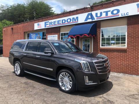2015 Cadillac Escalade ESV for sale at FREEDOM AUTO LLC in Wilkesboro NC