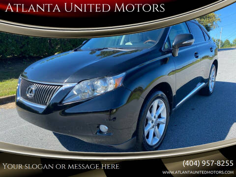 2010 Lexus RX 350 for sale at Atlanta United Motors in Buford GA