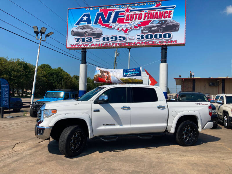 2017 Toyota Tundra for sale at ANF AUTO FINANCE in Houston TX
