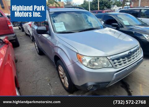 2013 Subaru Forester for sale at Highland Park Motors Inc. in Highland Park NJ
