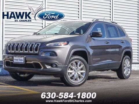 2015 Jeep Cherokee for sale at Hawk Ford of St. Charles in St Charles IL