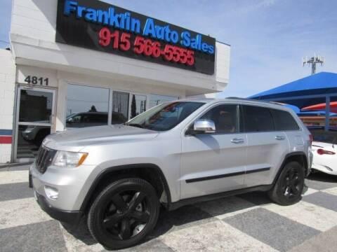 2012 Jeep Grand Cherokee for sale at Franklin Auto Sales in El Paso TX