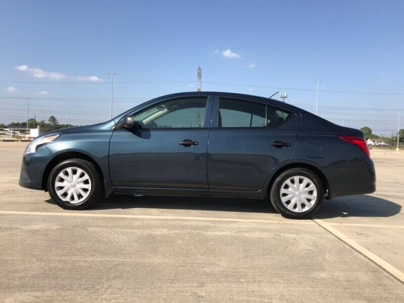 2015 Nissan Versa for sale at ALL AMERICAN FINANCE AND AUTO in Houston TX