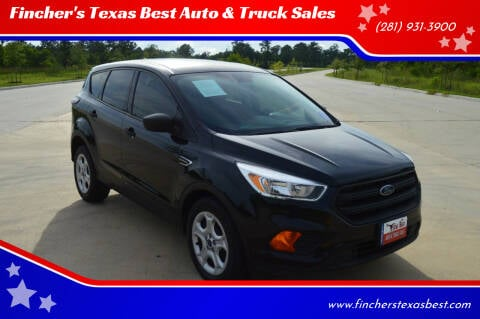 2017 Ford Escape for sale at Fincher's Texas Best Auto & Truck Sales in Tomball TX