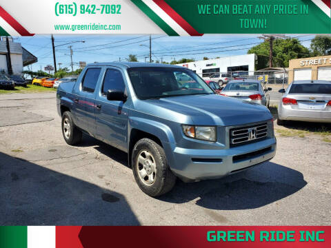2006 Honda Ridgeline for sale at Green Ride Inc in Nashville TN