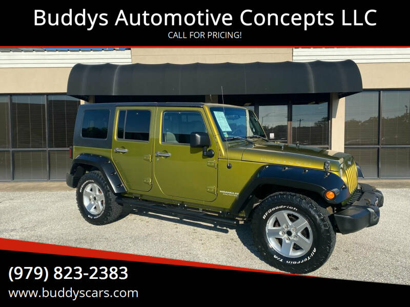 2008 Jeep Wrangler Unlimited for sale at Buddys Automotive Concepts LLC in Bryan TX