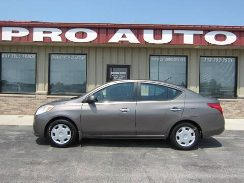 2012 Nissan Versa for sale at Pro Auto Sales in Carroll IA