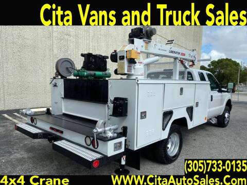 2015 FORD F350 SD 4X4 SUPERCAB UTILITY TRUCK WITH 3200 CRANE for sale at Cita Auto Sales in Medley FL