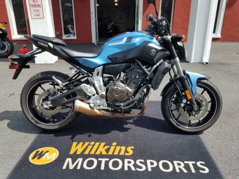 2017 Yamaha FZ-07 for sale at WILKINS MOTORSPORTS in Brewster NY