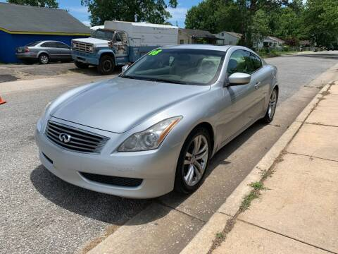 2008 Infiniti G37 Coupe for sale at D. C.  Autos in Huntsville AL